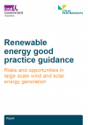 Renewable energy good practice guidance