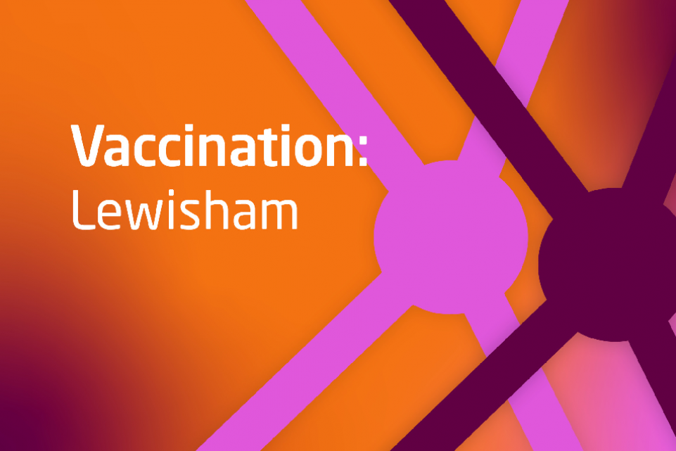 Decorative image with text Vaccination: lewisham